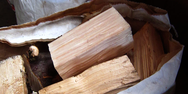 Kiln-dried wood